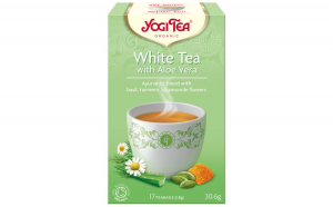 Ceai Bio Alb cu Aloe Vera, 30.6gr Yogi Tea