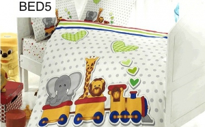 Lenjerie pentru pat de copii, din bumbac 100%, culori vii, modele vesele la doar 129 RON in loc de 289 RON
