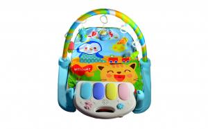 Saltea bebelusi cu pian, proiector - centru de activitati 5 in 1 si control la distanta