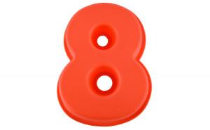 Forma de copt din silicon cifra 8, termorezistenta de la -40 la +230 grade C, h 23.5, mare, forma de tort / prajitura in forma cifrei 8, tava cifra 8, tava copt, tava silicon, rosu, Quasar & Co.