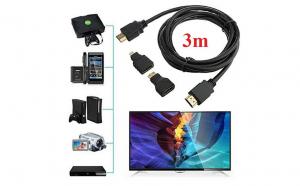 Set 3 in 1 cablu HDMI 3m