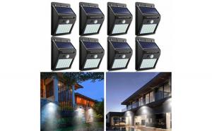 Set 8 x Lampa 30 Led cu incarcare solara