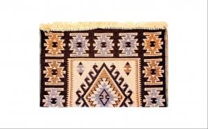 Covor tesut, Golden Daisy, culoarea maro, dimensiune 80X125 cm, la doar 21 RON in loc de 30 RON
