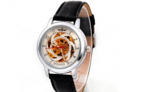Ceas Winner Round Exclusive Personality Mecanic-Automatic Skeleton W4, la 119 RON in loc de 259 RON