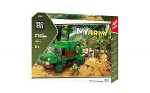 Joc constructie Blocki, Camion militar in jungla, 210 piese -MayDay