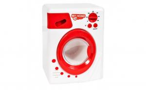Jucarie interactiva masina de spalat rufe automata, cuva rotativa, alb-rosu