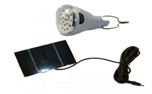 Bec economic cu led SMD + mini panou solar de 6V