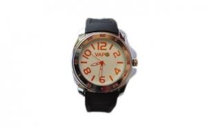 Ceas de mana unisex cadran alb cu scris portocaliu 1+1 Gratis, la doar 49 RON in loc de 98 RON