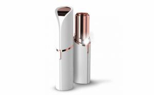 Epilator facial, Trimmer Flawless Skin, Aparat portabil pentru indepartarea parului facial cu LED - Flawless Finishing Touch - Alb/ Alaska White