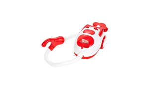 Aspirator de jucarie pentru copii cu lumina, sunete si bile care pot fi aspirate, Rosu 20 cm