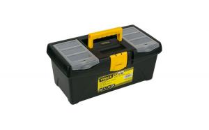Cutie pentru scule negru cu galben, iMK®, 40.8 x 21.8 x 17.4 cm