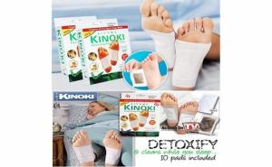 Kinoki plasturi pentru detoxifiere cu turmalina - 10 bucati