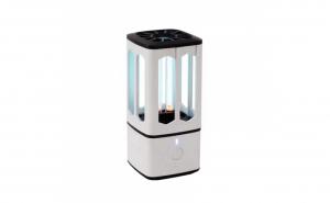 Lampa UV-C pentru sterilizare 360 grade, design minimalist, portabil, 30minute, interfata microUSB, alb