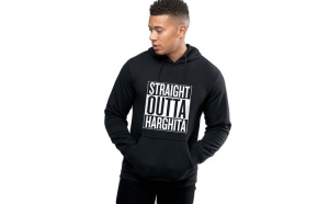 Hanorac Barbati Negru - Straight Outta Harghita