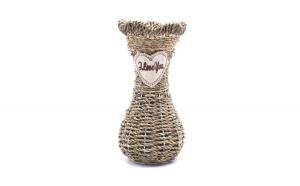 Vaza decorativa impletita, 25 cm