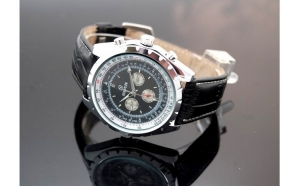 Ceas Goer Automatic Chrono Black la doar 129 RON in loc de 260 RON