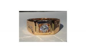 Inel Barbati Luxury Brilliant Sparkle, dublu placat aur 18K
