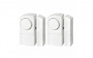 Set 2 alarme la deschidere usa sau fereastra, senzor deschidere, 100 dB, sistem fixare autoaderent