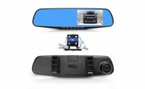 Oglinda retrovizoare cu camera HD DVR auto, cu microfon si difuzor incorporate + camera suplimentara marsalier Black Friday Romania 2017