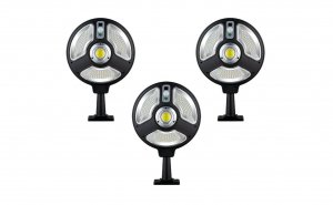 Set 3 x lampa solara 120 smd