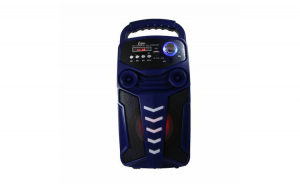 Boxa portabila Karaoke Wireless, cu functie Bluetooth, Port USB, Display LED, Radio FM, AUX IN, telecomanda inclusa,