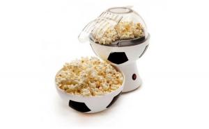 Masina pentru facut popcorn cu forma de minge fotbal + Cadou