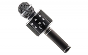 Microfon Karaoke Wireless cu Bluetooth, WS-858, black