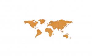 Harta lumii magnetica, 46 piese