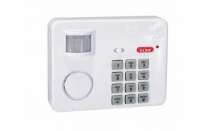 Alarma cu cod si butoane de panica, senzor miscare, IP 20, sirena 100 dB
