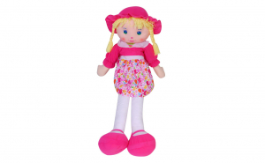 Papusa din material textil My Doll, Roz