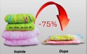 Set 4 saci pentru vidat haine - dimensiuni 80 x 110 cm, la doar 42 RON in loc de 109 RON