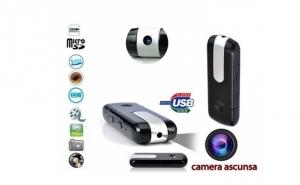 Stick spion cu camera de filmat HD, senzor de miscare, microfon ultrasensibil incorporat