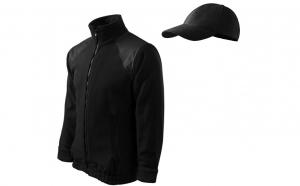 Jacheta barbati fleece + sapca, culoare neagra