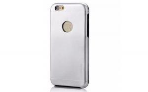Husa Apple iPhone 7 Motomo V2 Argintiu
