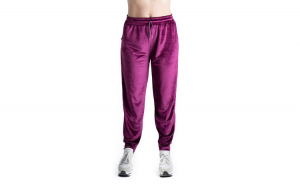 Pantaloni Trening Dama Din Catifea Grena