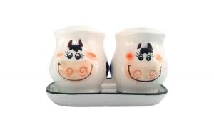Set din ceramica pentru sare si piper in
