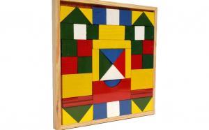 Set 48 forme geometrice din lemn