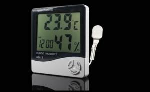 Ceas cu termometru si higrometru digital, LCD