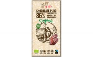 Ciocolata neagra BIO 86% cacao, 100gr