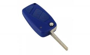Fiat - Carcasă cheie tip briceag, 3 butoane, albastru