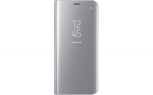 Husa Samsung Flip Originala, Clear View, Galaxy S8+, Argintiu