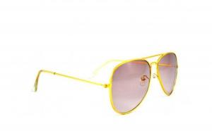 Ochelari de soare Aviator Maro deschis - Auriu