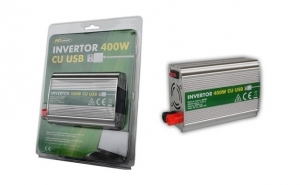 Invertor 12V - 220V 400W cu USB, la 185 RON in loc de 390 RON