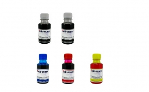 Pachet flacon refill, cerneala negru x 2, cyan, magenta, galben Canon 100ml, Ink-Mate GI-490