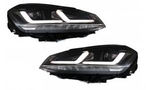 Set 2 faruri, Osram Full LED compatibil cu VW Golf 7 VII (2012-2017), black LED driving