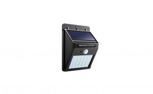 Lampa LED cu incarcare solara si senzor de miscare - 30 Led+spinner lumina cadou