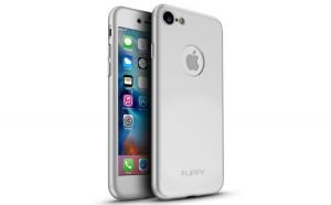 Husa Apple iPhone 7 Flippy Full Cover 360 Argintiu + Folie Cadou