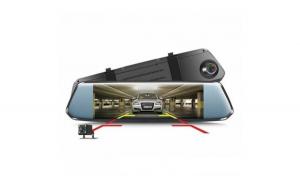 Camera Video Auto tip Oglinda DVR Techstar® 7 inch FullHD 1080P  DualLens cu Marsarier si Touchscreen