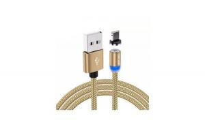 Cablu USB Textil Fast Charge cu Mufa Magnetica 360      USLION