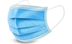 Set 50 bucati masti chirurgicale faciale din 3 straturi, 3 pliuri cu elastic